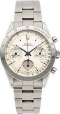 Timepieces:Wristwatch, Rolex, Ref. 6239 Oyster Chronograph, with Ref. 6238 Dial, Stainless Steel, Circa 1964. ...