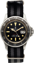 "Timepieces:Wristwatch, Rolex, Ref 1680 ""Red Submariner"", Mark VI Dial, Stainless Steel, Circa 1974. ..."
