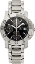 Timepieces:Wristwatch, Baume & Mercier, Capeland XL Steel Automatic Chronograph, Full Set. ...