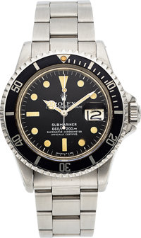 Rolex, Ref. 1680 Submariner, Oyster Perpetual Date, Stainless Steel, Circa 1977