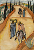 Paintings, Reuven Rubin (1893-1974). Untitled, 1923-24. Oil on canvas. 31-1/2 x 21-5/8 inches (80.0 x 54.9 cm). Signed lower right:...