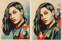 Shepard Fairey (b. 1970) Power and Equality: Dove and Flower (two works), 2019 Screenprints in color
