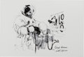 """Explorers:Space Exploration, Apollo 11: Paul Calle Limited Edition, #28/250, """"Collins Suiting Up"""" Hands with Gloves Print, Signed by Michael Collins...."""