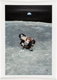 "Apollo 11: Chris Calle Signed Limited Signature Edition, #31/50, ""Apollo 11 - Eagle's Ascent"" Canvas Gicl&eacu..."