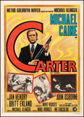 "Movie Posters:Crime, Get Carter (MGM, 1971). Fine+ on Linen. Italian 2 - Fogli (39.5"" X 55""). Crime.. ..."