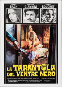 "The Black Belly of the Tarantula (CIC, 1971). Folded, Very Fine+. Italian 2 - Fogli (39.25"" X 55""). Horror..."