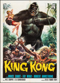 "Movie Posters:Horror, King Kong (Delta, R-1966). Folded, Very Fine-. Italian 2 - Fogli (39.25"" X 55"") Renato Casaro Artwork. Horror.. ..."