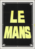 "Movie Posters:Sports, Le Mans (National General, 1971). Folded, Very Fine-. Silk Screen Italian 2 - Fogli (39.25"" X 55"") Teaser Style. Sports.. ..."