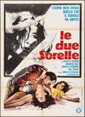 "Movie Posters:Horror, Sisters (Gold, 1974). Folded, Very Fine-. Italian 2 - Fogli (39.25"" X 54.25""). Horror.. ..."