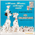 "Movie Posters:Animation, 101 Dalmatians (Buena Vista, R-1969). Folded, Very Fine+. Six Sheet (77"" X 77""). Animation.. ..."