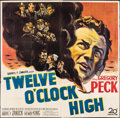 "Movie Posters:War, Twelve O'Clock High (20th Century Fox, 1949). Folded, Fine+. Six Sheet (80"" X 79""). War.. ..."