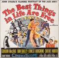 "Movie Posters:Musical, The Best Things in Life Are Free (20th Century Fox, 1956). Folded, Fine+. Six Sheet (80"" X 78""). Musical.. ..."