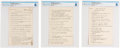 Explorers:Space Exploration, NACA Test Pilot: Bell X-1B Flight Check Off List, Dated November 14, 1956, Directly from The Armstrong Family Collection™, CAG... (Total: 3 Items)