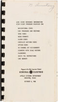 "Explorers:Space Exploration, Apollo 11: Neil Armstrong's Annotated General Electric ""CMS ISCMC Reference Information (CSM Flight Program Colossus 236)"" Oct..."