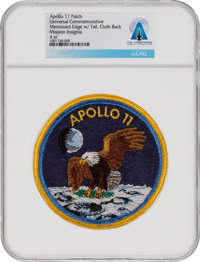 Apollo 11 Universal Commemorative Mission Insignia Patch Directly From The Armstrong Family Collection™, CAG Certified.&...