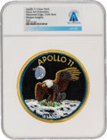 Explorers:Space Exploration, Apollo 11 Texas Art Embroidery Crew Patch of the Type Worn on Bio-Garments in Quarantine Directly From The Armstrong Family Co...