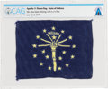 Explorers:Space Exploration, Apollo 11 Flown Flag of the State of Indiana Directly from The Armstrong Family Collection™, CAG Certified. ...