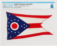 Apollo 11 Flown Flag of Neil Armstrong's Home State of Ohio Directly From The Armstrong Family Collection™, CAG Certifie...