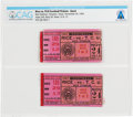 Explorers:Space Exploration, Football: Two Rice vs T.C.U. Ticket Stubs, November 24, 1962, from His Early Days at NASA in Houston, Directly fro...