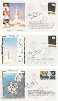 Apollo 13: James Lovell and Fred Haise Signed Event Covers (Three)