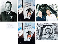 Joe Kittinger: Group of Five Signed and Inscribed Photos with One Signature on Card