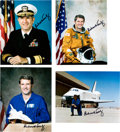 Explorers:Space Exploration, Richard Truly: Group of Four Signed Photos. ...