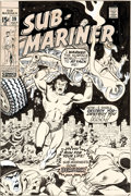 Original Comic Art:Covers, Sal Buscema and Marie Severin Sub-Mariner #39 Cover Original Art (Marvel, 1971)....