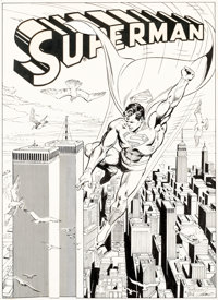 José Luis García-López and Dick Giordano Famous First Edition #C-61 Superman Inside Back Cover Orig...