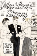 Original Comic Art:Covers, Vince Colletta My Love Story #9 Cover Original Art (Marvel, 1957)....