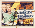 "Movie Posters:Musical, The Barkleys of Broadway (MGM, 1949). Folded, Fine. Half Sheet (22"" X 28"") Style B. Musical.. ..."