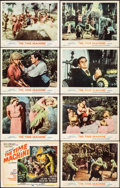 """Movie Posters:Science Fiction, The Time Machine (MGM, 1960). Fine/Very Fine. Lobby Card Set of 8 (11"""" X 14""""). Reynold Brown Title Card Artwork. Science Fic... (Total: 8 Items)"""