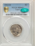 Buffalo Nickels, 1913-D 5C Type One MS66+ PCGS. CAC. PCGS Population: (477/84). NGC Census: (180/25). CDN: $450 Whsle. Bid for problem-free ...