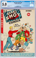 Golden Age (1938-1955):Miscellaneous, Big Shot Comics #28 (Columbia, 1942) CGC VG/FN 5.0 Cream to off-white pages....