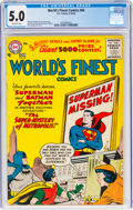 Silver Age (1956-1969):Superhero, World's Finest Comics #84 (DC, 1956) CGC VG/FN 5.0 Off-white pages....