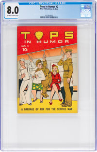 Tops In Humor #2 (Wise Publications, 1944) CGC VF 8.0 Off-white to white pages