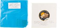 Apollo 13 Flown Beta Cloth Mission Insignia with Flown Original Packaging Directly from the Personal Collection of Missi...