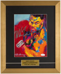 Boxing Collectibles:Autographs, Mike Tyson Signed & Framed LeRoy Neiman Print....