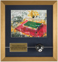 Autographs:Others, Willie Mosconi Signed Eight Ball Framed Display with Neima...