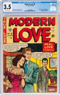 Modern Love #8 (EC, 1950) CGC VG- 3.5 Off-white pages