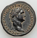 Ancients:Roman Imperial, Ancients: Domitian, as Augustus (AD 81-96). AE dupondius (29mm, 12.19 gm, 6h). Choice VF, bronze disease....