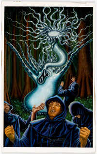 S. Gould - Call of Cthulhu Painting Original Art (1990)