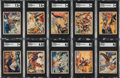 Non-Sport Cards:Sets, 1940 Gum Inc. Lone Ranger SGC Graded Partial Low Number Set (27) With 1 High Number....