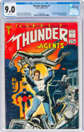 Silver Age (1956-1969):Superhero, T.H.U.N.D.E.R. Agents #1 (Tower, 1965) CGC VF/NM 9.0 White pages....