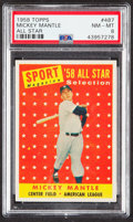 Baseball Cards:Singles (1950-1959), 1958 Topps Mickey Mantle All Star #487 PSA NM-MT 8....