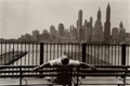 Photographs, Louis Stettner (American, 1922-2016). Promenade, Brooklyn, 1954. Gelatin silver, printed later. 7-5/8 x 11-3/8 inches (1...