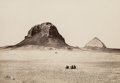 Photographs, Francis Frith (British, 1822-1898). Pyramids of Dahshur, 1856. Albumen. 6 x 8-3/4 inches (15.2 x 22.2 cm). Signed in ink...