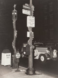 Photographs, George Enell (American, 20th Century). Washington Square Park at Night, New York City. Gelatin silver. 9-3/4 x 7-1/2 inc...