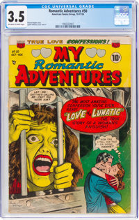 Romantic Adventures #50 (ACG, 1954) CGC VG- 3.5 Off-white to white pages