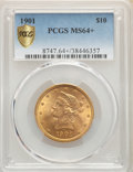 1901 $10 MS64+ PCGS. PCGS Population: (5765/782 and 748/47+). NGC Census: (3254/758 and 192/19+). MS64. Mintage 1,718,82...