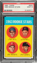 Baseball Cards:Singles (1960-1969), 1963 Topps Willie Stargell - 1963 Rookie Stars #553 PSA Mint 9....
